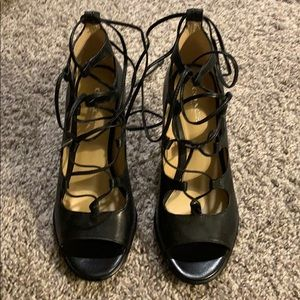 Coach lace up heels